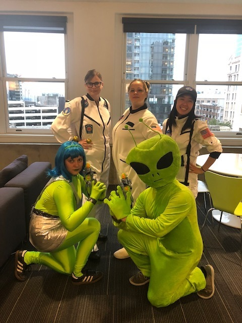 CF employees dressed as Space Force for Halloween