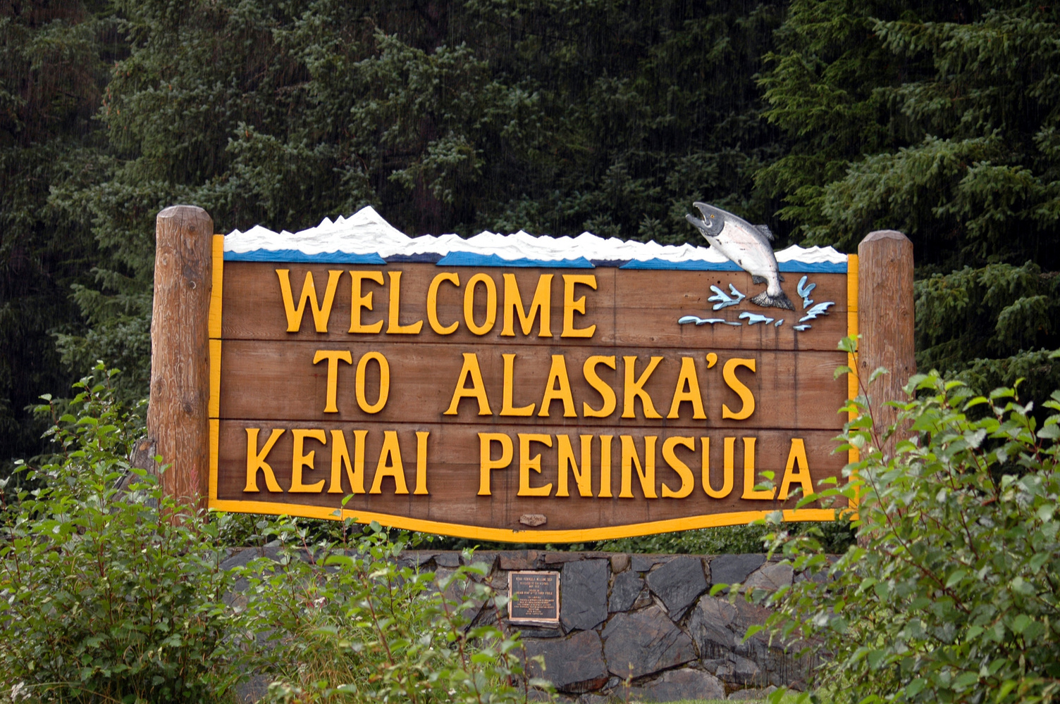 Welcome to the Alaska's Kenai Peninsula sign