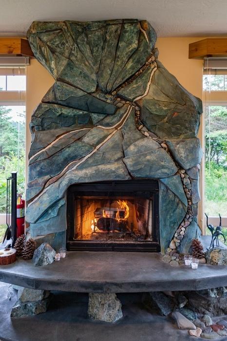 Fireplace, Lodge Fireplace, Cozy Fireplace