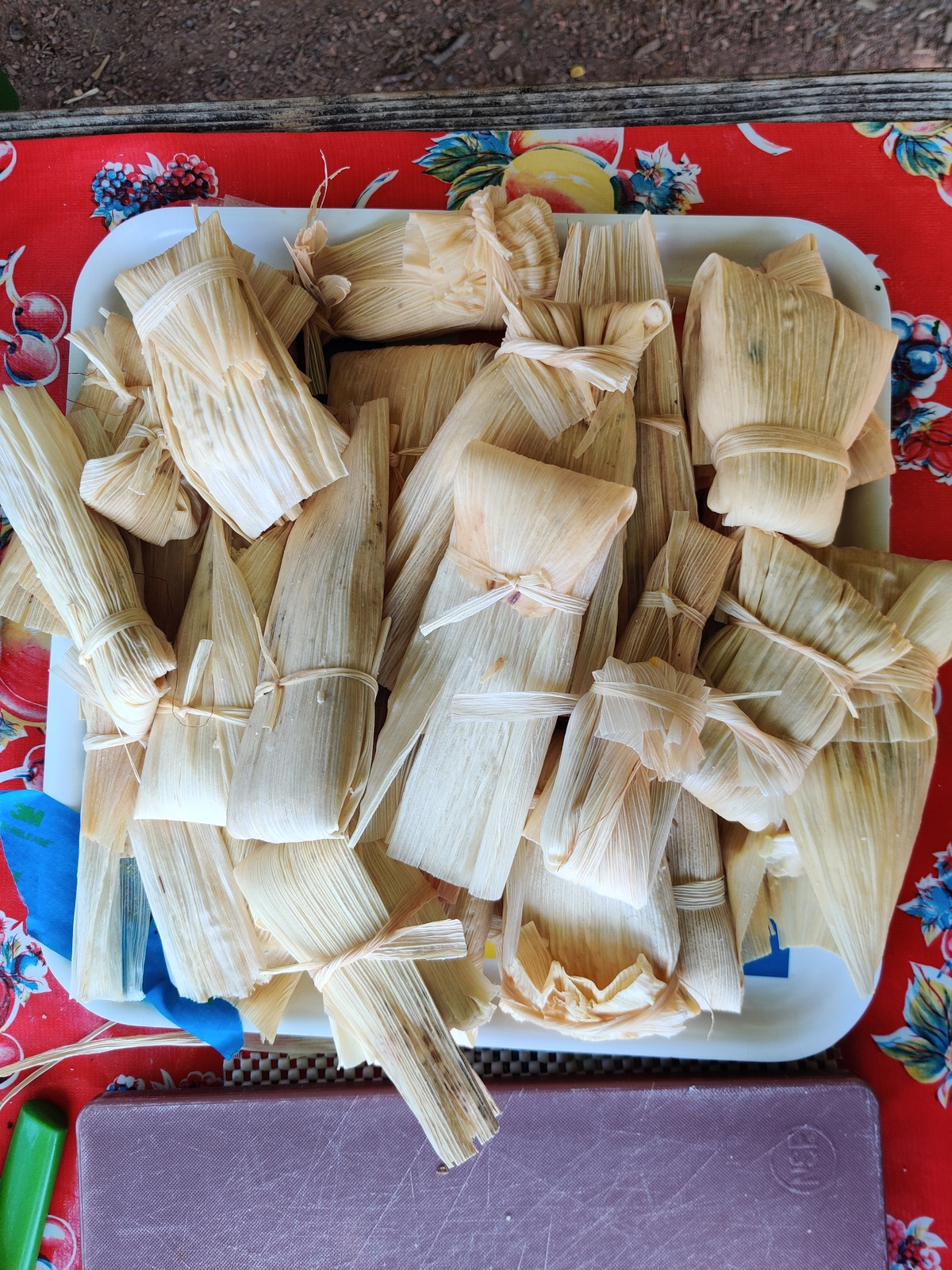 tamales on a plate.