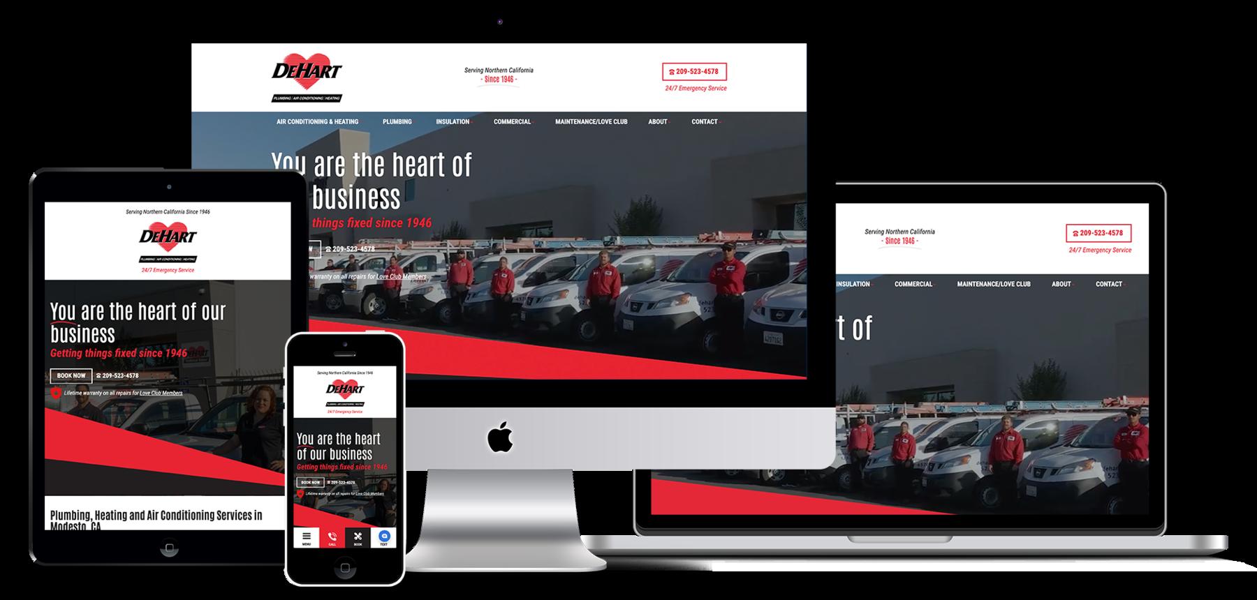 DeHart Plumbing website