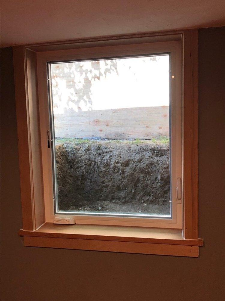 New Egress Window Installation Inside
