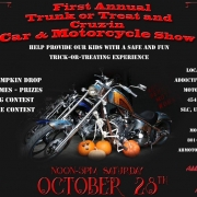 Addictive Behavior Motor Works first annual Cruz-In Car and Motorcycle show with Trunk-or-Treat
