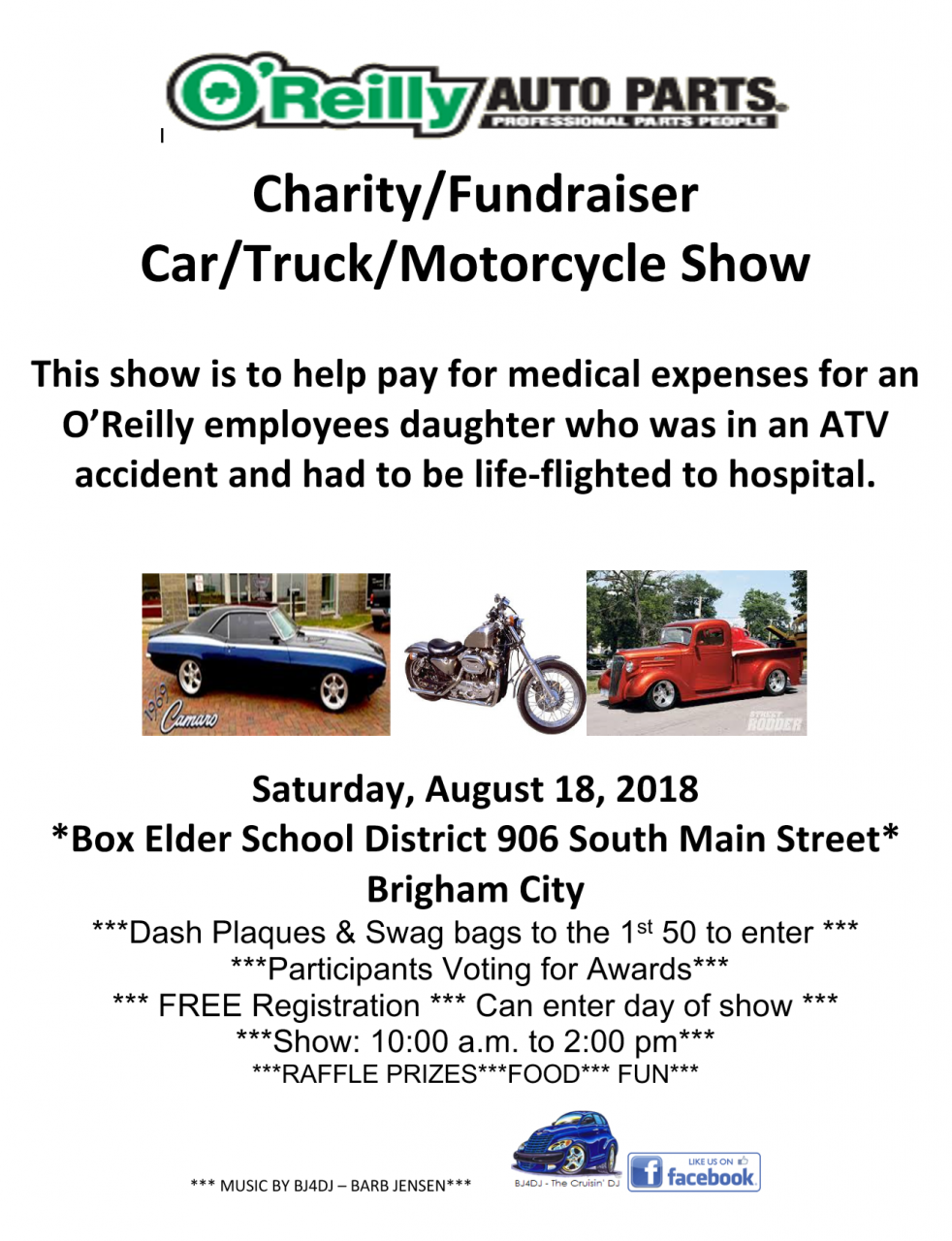Brigham City OReilly Charity Car Truck And Motorcycle Show Aug - O reilly car show