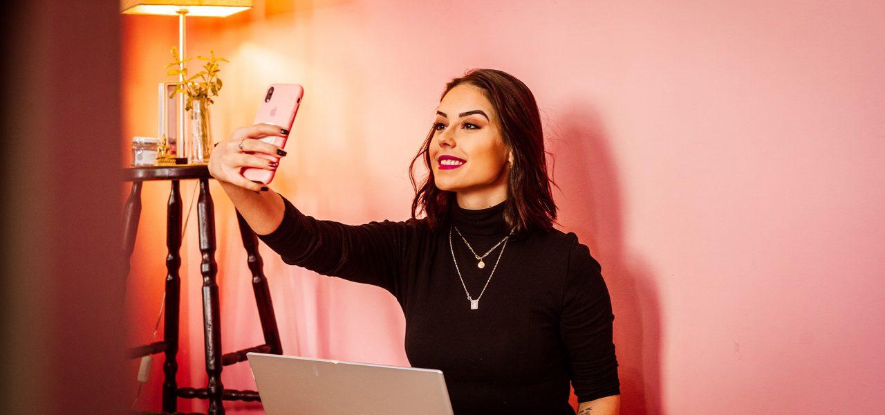 Parceria com blogueiras e influenciers para loja