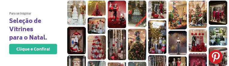 Inspiração para vitrines de Natal