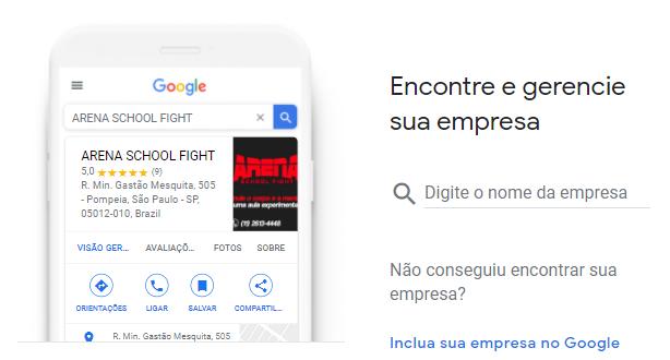 Cadastro Google Meu Negócio