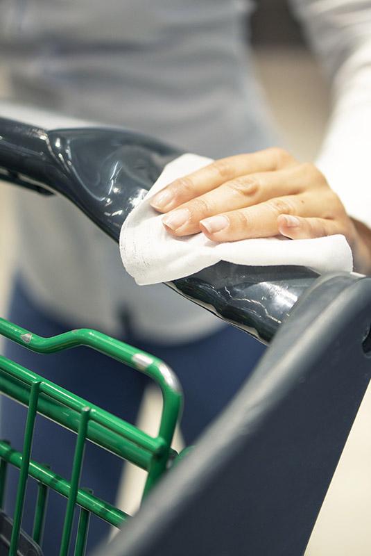 Higienizar carrinho de compras