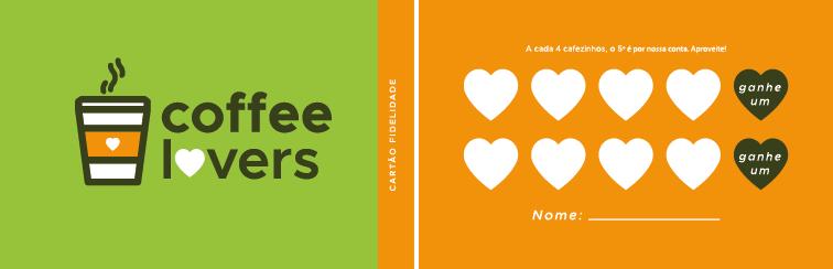 Cartão de fidelidade para cafeteria