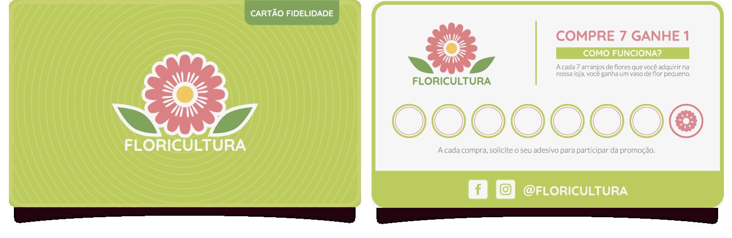 Cartão de fidelidade para Floricultura