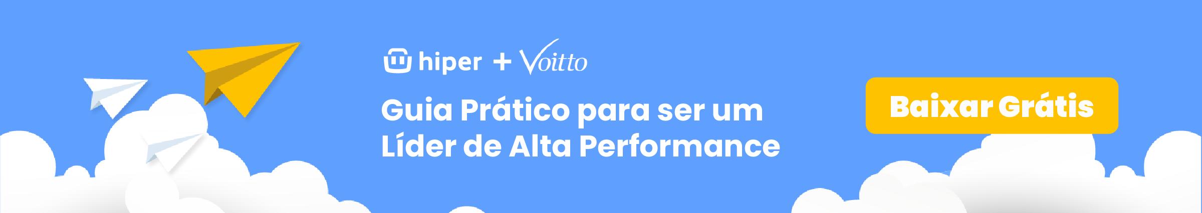 """Banner para download gratuito do e-book """"Guia Prático para uma Liderança de alta performance"""""""