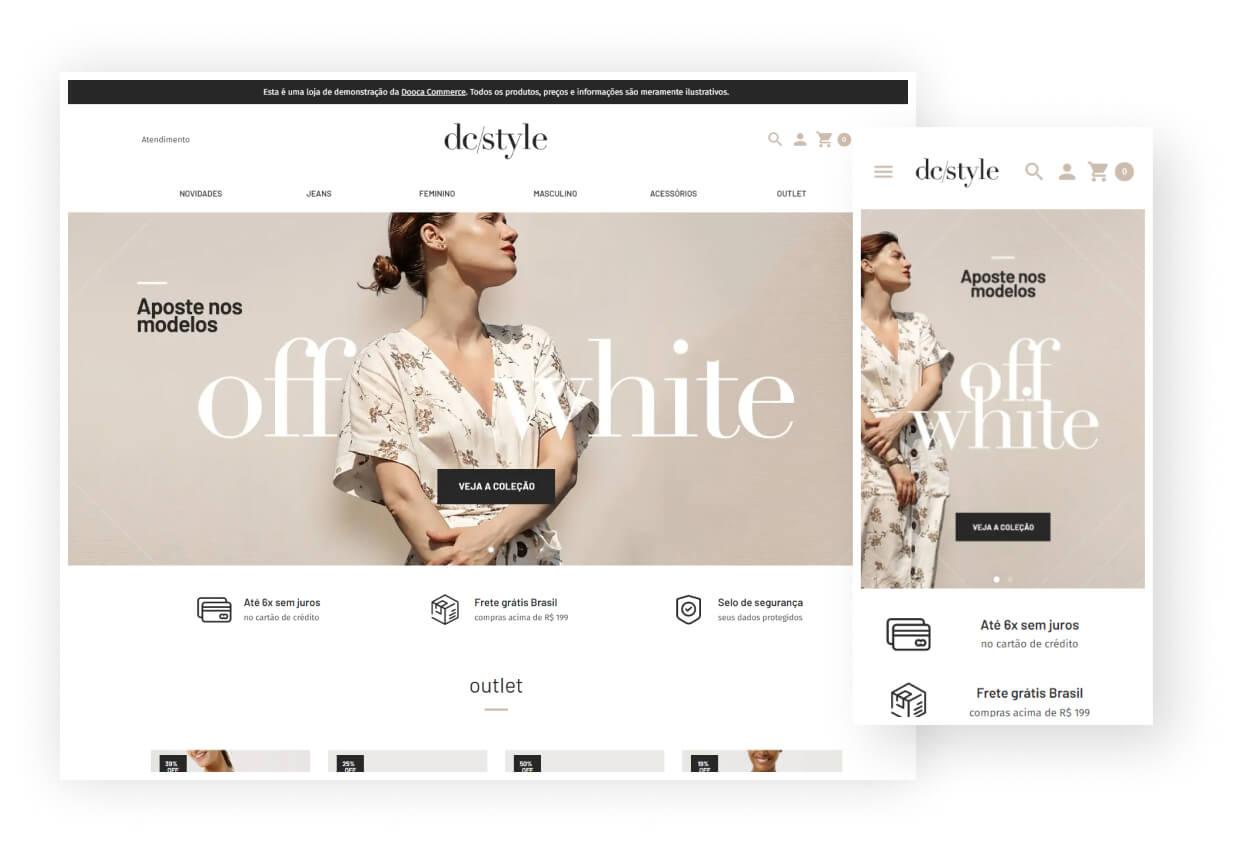 Modelo de site da Dooca Commerce