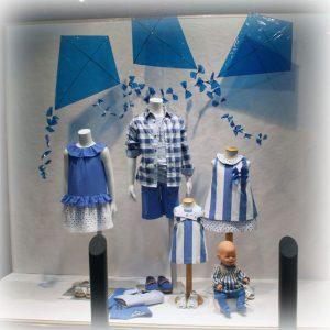 Vitrine de Loja Infantil Azul