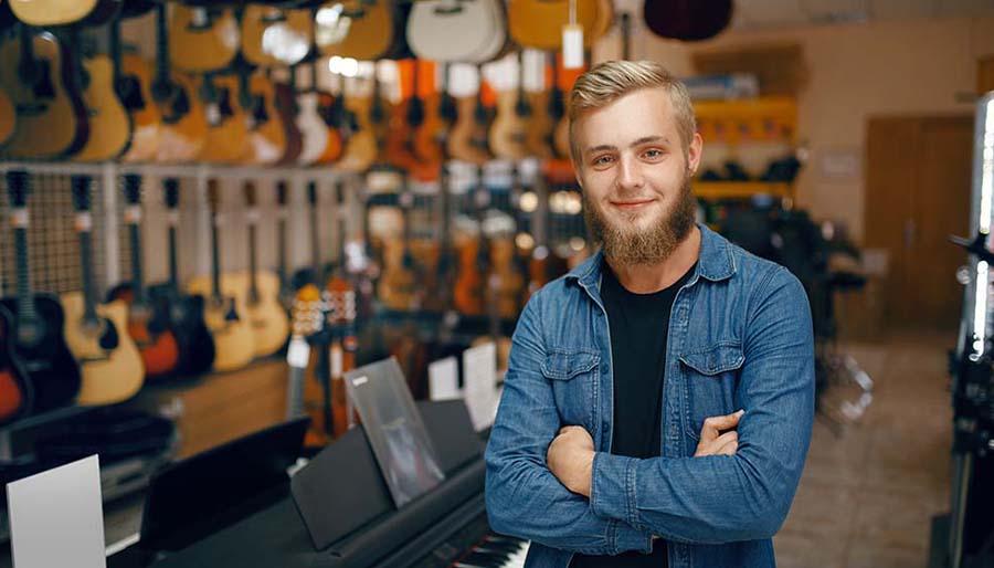 Sistema para loja de instrumentos musicais