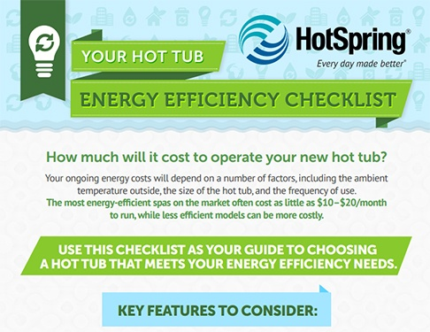 a link to an infographic guide that tells you all about what to look for in hot tub energy efficiency