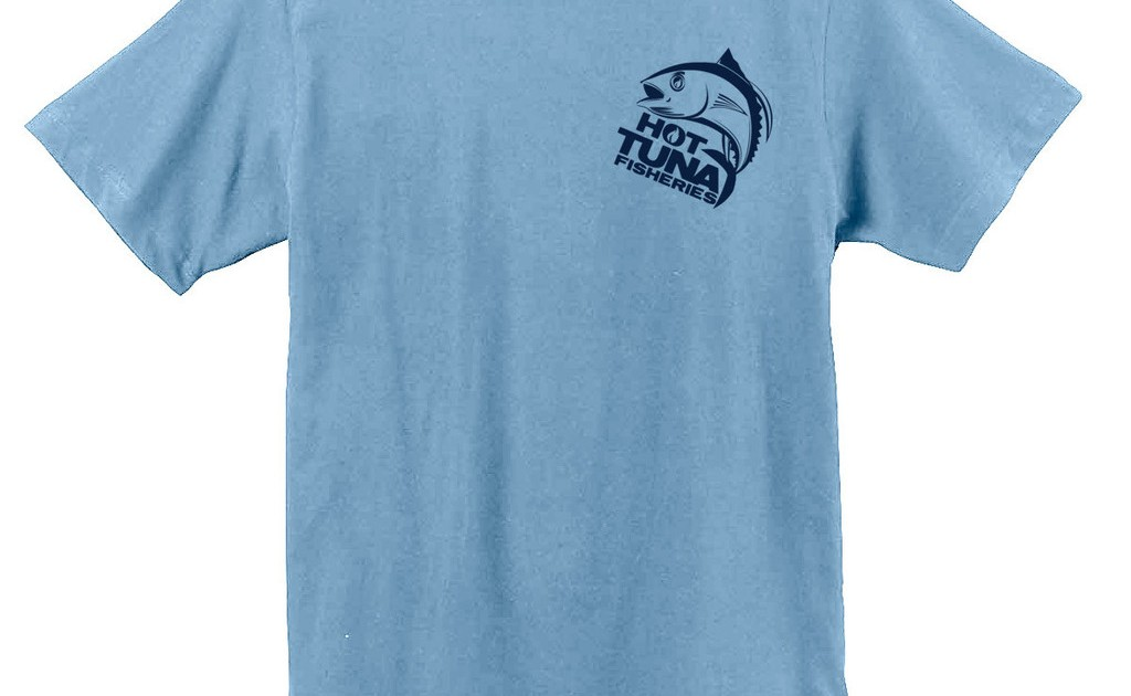Men S Light Blue Logo Tee Hot Tuna Fisheries Hot Tuna