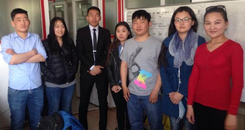 Mongolia Interns at first meeting