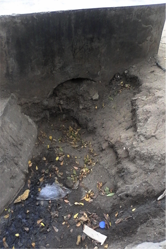 Blocked drains in Kijitonyama ward  PHOTO CREDIT: Ramani Huria