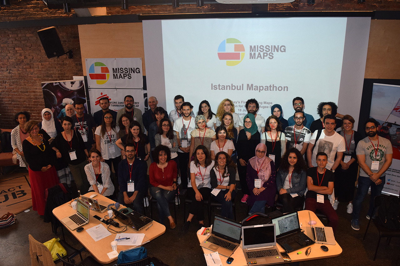 All in a Day's Work: Volunteers show solidarity with refugees during Istanbul's First Missing Maps Mapathon