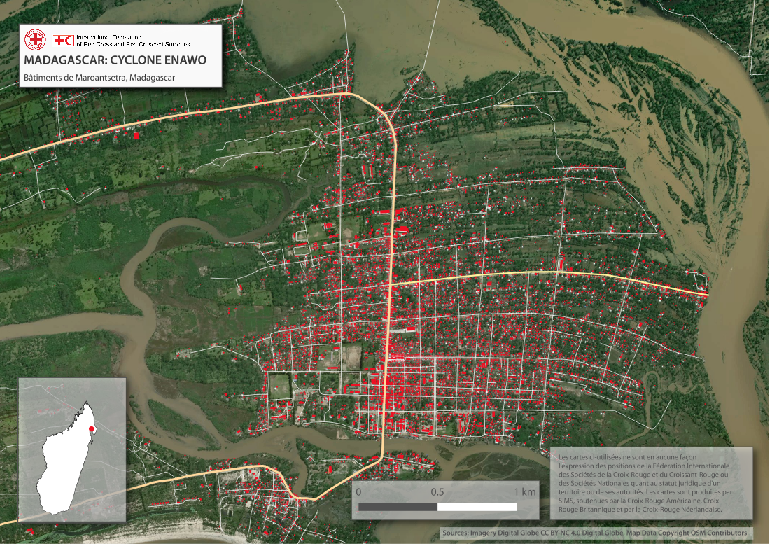 Carte Internationale Madagascar.Humanitarian Openstreetmap Team Disaster Activation Cyclone Enawo