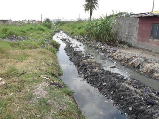 Ditches dug by Dar es Salaam for drainage