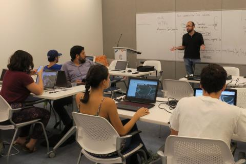 Participants at a Map-A-Thon held in San Juan, PR working on HOT OSM tasks.