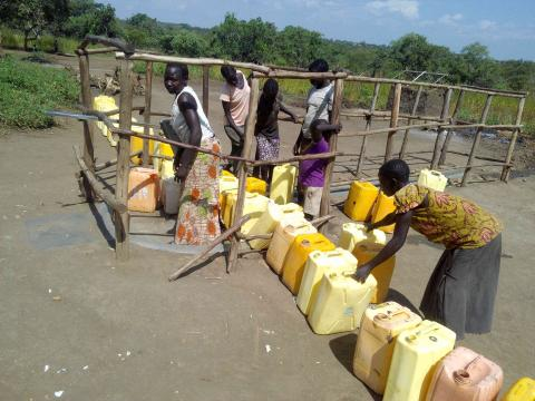 Congestion; The wells often dry out in dry season, leaving people to walk for miles for a Jerry-Can full.