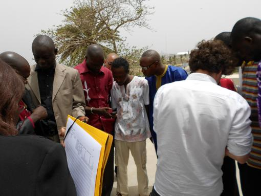Participants from the Casamace region in Senegal are learning how to use a GPS at a HOT Workshop