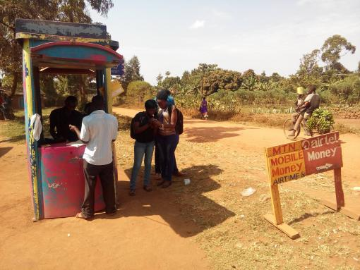 Mobile money agent in Namanyonyi subcounty