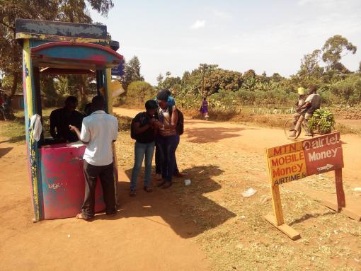 Mobile money agent in Namanyonyi subcounty