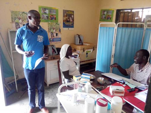 Surveying a health facility in Mbale district