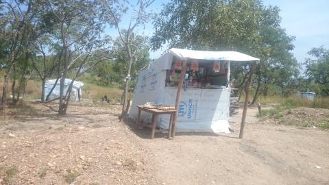 Village Shop in Rhino Camp Selling Basic Household Goods