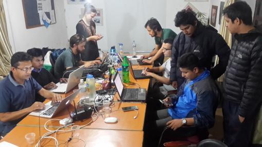 Kathmandu Living Labs at work a few days ago