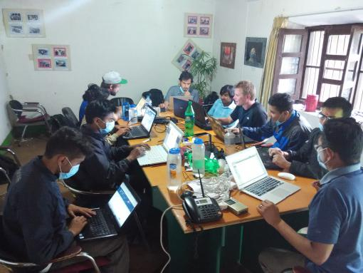 The situation room at Kathmandu Living Labs