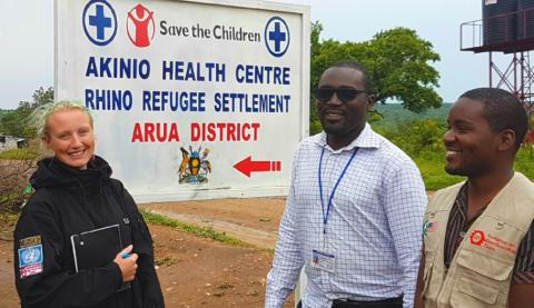 Humanitarian OpenStreetMap Team with MapUganda and UNHCR working in Rhino Refugee Settlement