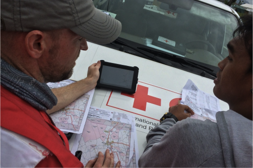 Red Cross using OpenStreetMap after Typhoon Haiyan