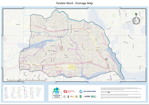 Map of Tandale created through community mapping CREDIT: Ramani Huria