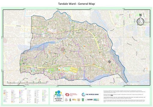 Drainage map of Tandale created through community mapping CREDIT: Ramani Huria