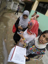 Women using Field Papers in Bangladesh.