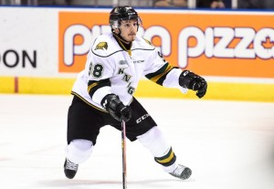 Victor Mete of the London Knights. Photo by Aaron Bell/OHL Images