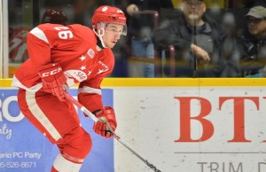 Tim Gettinger of the Sault Ste. Marie Greyhounds. Photo by Terry Wilson / OHL Images.