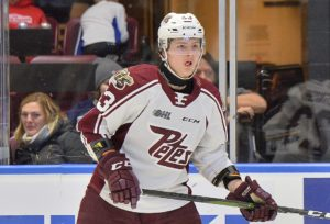 Mason McTavish of the Peterborough Petes. Photo by Terry Wilson / OHL Images.