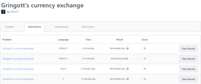 Gringott's currency exchange Discussion | Code Wizard 2 0