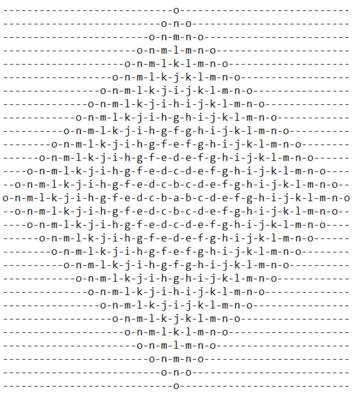 Alphabet Rangoli Discussions | Python | HackerRank