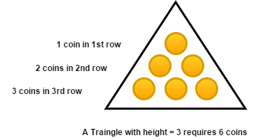 Coins And Triangle | CodeChef