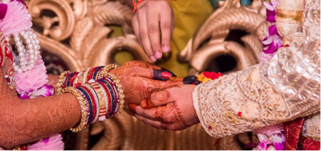 The hasta milap (meeting of the hands), in the Indian marriage ceremony symbolizes a new unbreakable bond between the couple. Societies vary widely in their tolerance of sexuality outside of marriage.