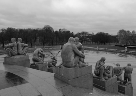 Vigeland sculptures capture a variety of human relationships including homosexuality.