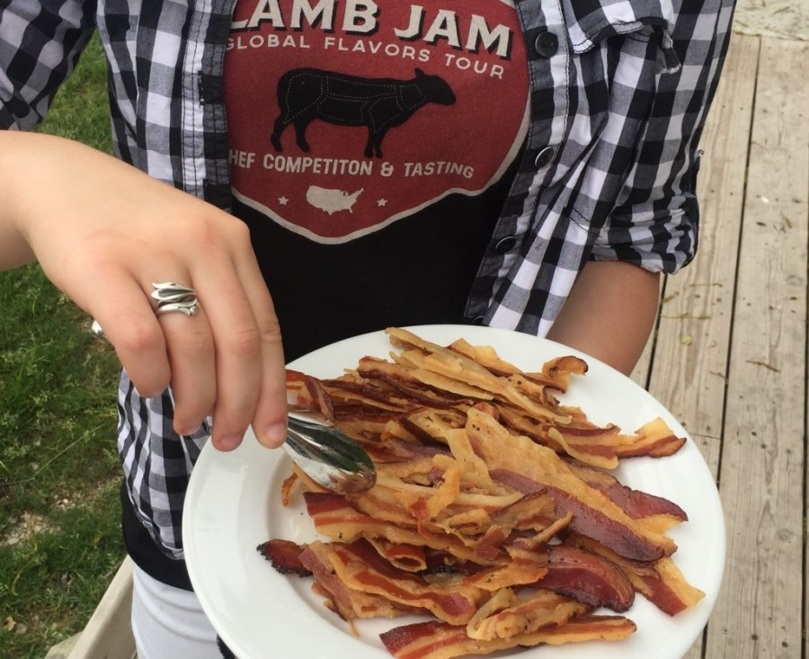 Bacon on bacon. (Source: www.zingermanscampbacon.com)