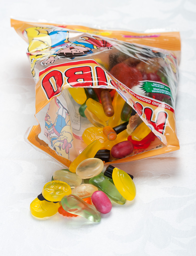 A bag of Haribo Matador Mix