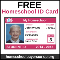 Free printable child identification card membership card for Homeschool id template